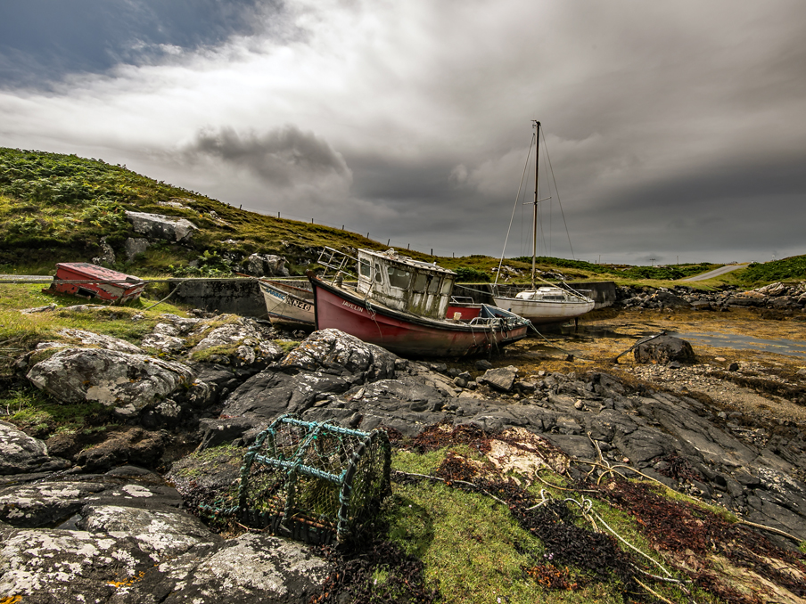 Abandoned Boats and Lobster Pot - South Uist.jpg